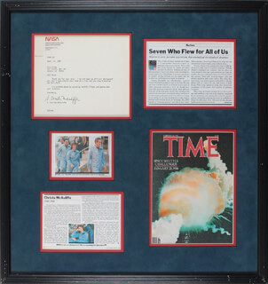 CHRISTA McAULIFFE - TYPED LETTER SIGNED