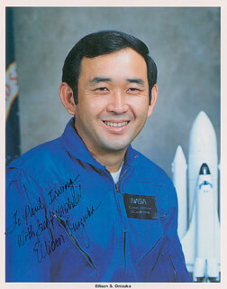 LT. COLONEL ELLISON S. EL ONIZUKA - AUTOGRAPHED INSCRIBED PHOTOGRAPH