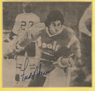 FRED AHERN - NEWSPAPER PHOTOGRAPH SIGNED