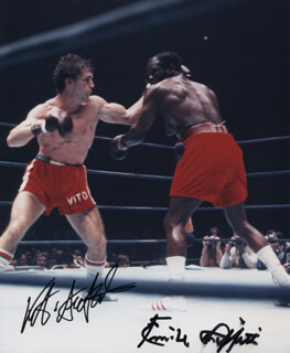 EMILE GRIFFITH - AUTOGRAPHED SIGNED PHOTOGRAPH CO-SIGNED BY: VITO ANTUOFERMO