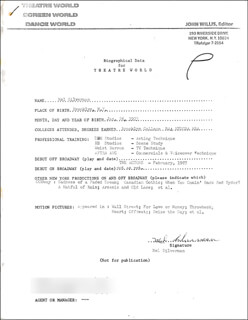 MEL SILVERMAN - TYPED RESUME SIGNED