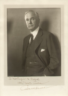 Autographs: CORDELL HULL - INSCRIBED PHOTOGRAPH SIGNED
