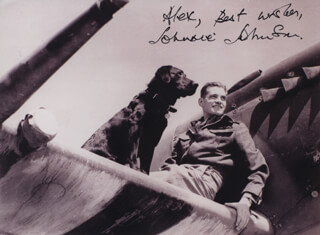 AIR VICE MARSHAL JAMES JOHNNIE JOHNSON - AUTOGRAPHED INSCRIBED PHOTOGRAPH