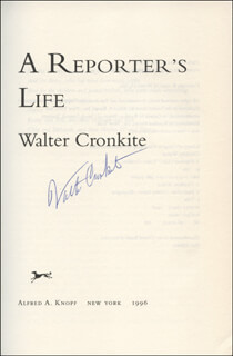 WALTER CRONKITE - BOOK SIGNED