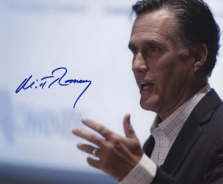 MITT ROMNEY - AUTOGRAPHED SIGNED PHOTOGRAPH