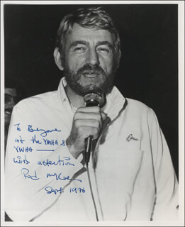 ROD MCKUEN - AUTOGRAPHED INSCRIBED PHOTOGRAPH 09/1976