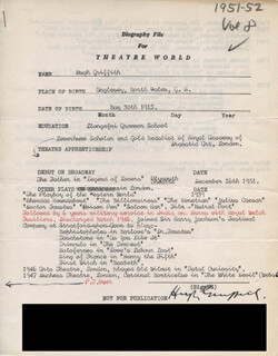 HUGH GRIFFITH - TYPED RESUME SIGNED