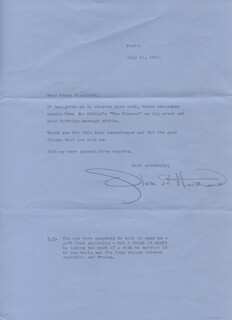 OLIVIA DE HAVILLAND - TYPED LETTER SIGNED 07/12/1993