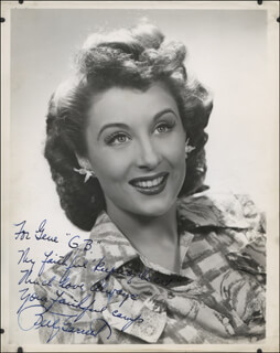 BETTY GARRETT - AUTOGRAPHED INSCRIBED PHOTOGRAPH