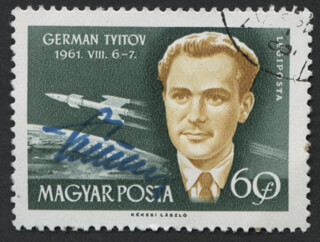 GENERAL GHERMAN TITOV - STAMP(S) SIGNED