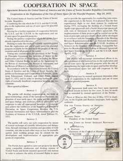 Autographs: BORIS ANDREYEV - COMMEMORATIVE SHEET WITH FIRST DAY CANCELLATION CIRCA 1973