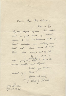 PEARL S. BUCK - AUTOGRAPH LETTER SIGNED 04/08/1938