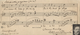 C. WHITNEY COOMBS - AUTOGRAPH MUSICAL MANUSCRIPT SIGNED 05/12/1914