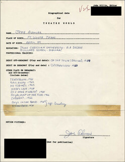 JERE ADMIRE - AUTOGRAPH RESUME SIGNED