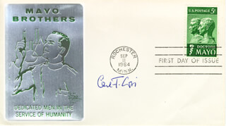CARL F. CORI - FIRST DAY COVER SIGNED