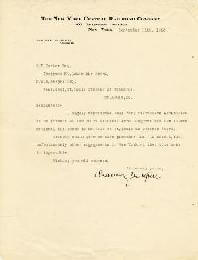 Autographs: CHAUNCEY M. DEPEW - TYPED LETTER SIGNED 09/11/1923