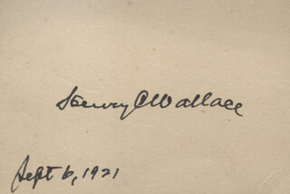 Henry C. Wallace Autographs 312516