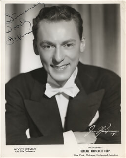 WOODY HERMAN - AUTOGRAPHED SIGNED PHOTOGRAPH