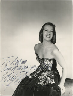 LILY PONS - AUTOGRAPHED INSCRIBED PHOTOGRAPH