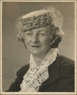 INEZ ROBB - AUTOGRAPHED SIGNED PHOTOGRAPH