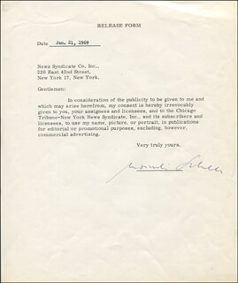 MAXIMILIAN SCHELL - CONTRACT SIGNED 01/21/1969