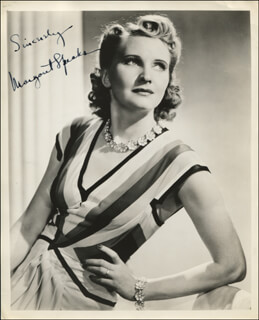 MARGARET SPEAKS - AUTOGRAPHED SIGNED PHOTOGRAPH