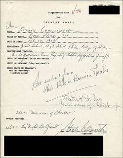 STAATS COTSWORTH - AUTOGRAPH RESUME SIGNED