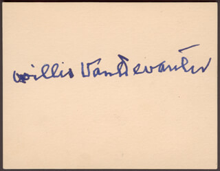 ASSOCIATE JUSTICE WILLIS VAN DEVANTER - AUTOGRAPH