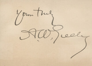 Autographs: MAJOR GENERAL ADOLPHUS W. GREELY - AUTOGRAPH SENTIMENT SIGNED