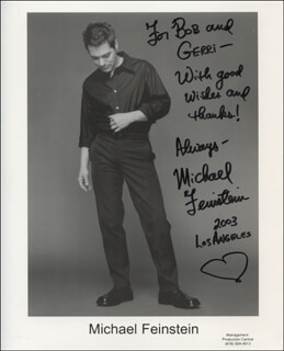 MICHAEL FEINSTEIN - AUTOGRAPHED INSCRIBED PHOTOGRAPH 2003