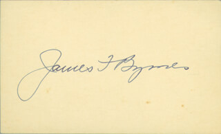 Autographs: ASSOCIATE JUSTICE JAMES F. BYRNES - SIGNATURE(S)