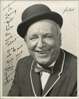 PAT O'BRIEN - AUTOGRAPHED INSCRIBED PHOTOGRAPH 01/10/1965