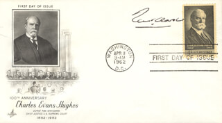 Autographs: ASSOCIATE JUSTICE TOM C. CLARK - FIRST DAY COVER SIGNED