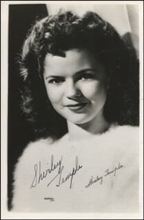 SHIRLEY TEMPLE - AUTOGRAPHED SIGNED PHOTOGRAPH
