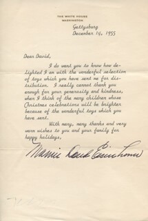 FIRST LADY MAMIE DOUD EISENHOWER - TYPED LETTER SIGNED 12/14/1955