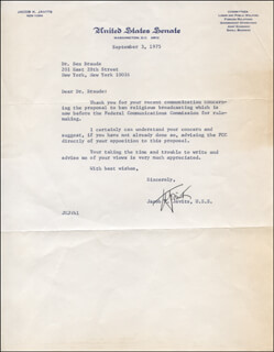 JACOB K. JAVITS - TYPED LETTER SIGNED 09/03/1975