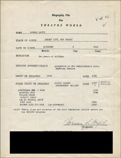 NORMAN LLOYD - TYPED RESUME SIGNED
