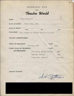DICK PATTERSON - TYPED RESUME SIGNED