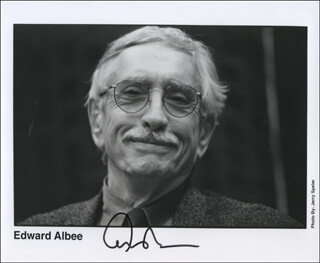 EDWARD ALBEE - PRINTED PHOTOGRAPH SIGNED IN INK