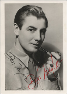 DON TAYLOR - PRINTED PHOTOGRAPH SIGNED IN INK