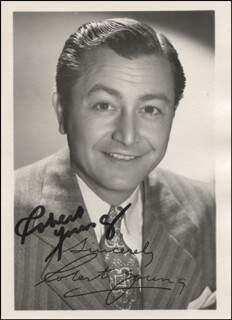 ROBERT YOUNG - PRINTED PHOTOGRAPH SIGNED IN INK