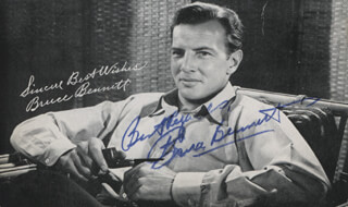 Autographs: BRUCE (HERMAN BRIX) BENNETT - PRINTED PHOTOGRAPH SIGNED IN INK