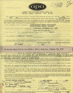 GLENN MILLER BAND (TEX BENEKE) - CONTRACT SIGNED