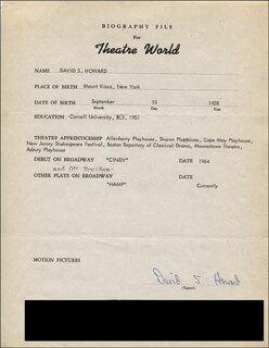 DAVID S. HOWARD - TYPED RESUME SIGNED