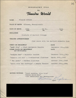 WILLIAM HUGHES - TYPED RESUME SIGNED