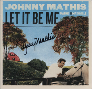 JOHNNY MATHIS - COMPACT DISC CASE SIGNED