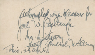 GENERAL MATTHEW B. RIDGWAY - AUTOGRAPH NOTE SIGNED