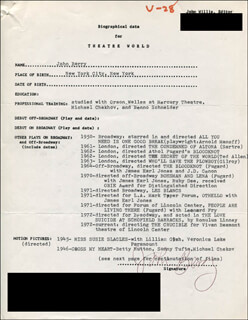 JOHN BERRY - TYPED RESUME SIGNED
