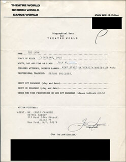 JOE LYNN - TYPED RESUME SIGNED