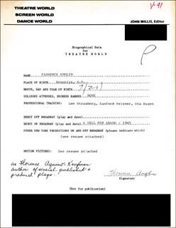 FLORENCE ANGLIN - TYPED RESUME SIGNED